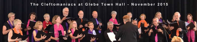 The Cleftomaniac at Glebe Town Hall, November 2015